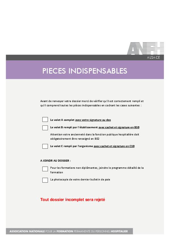 Pieces Indispensables Anfh