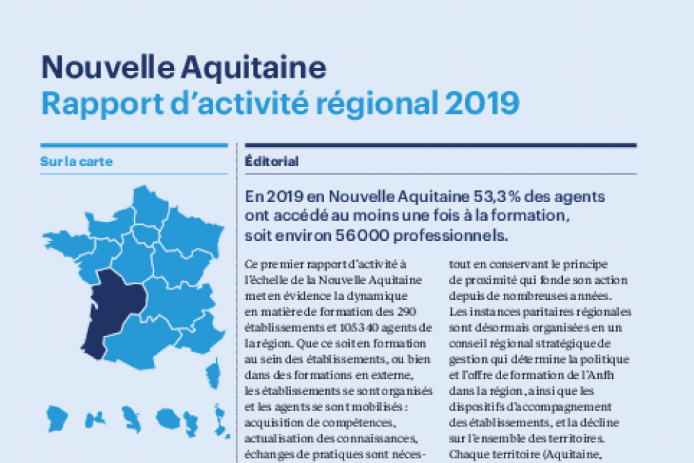 Les chiffres de la formation dans la Fonction publique hospitalière en Nouvelle Aquitaine