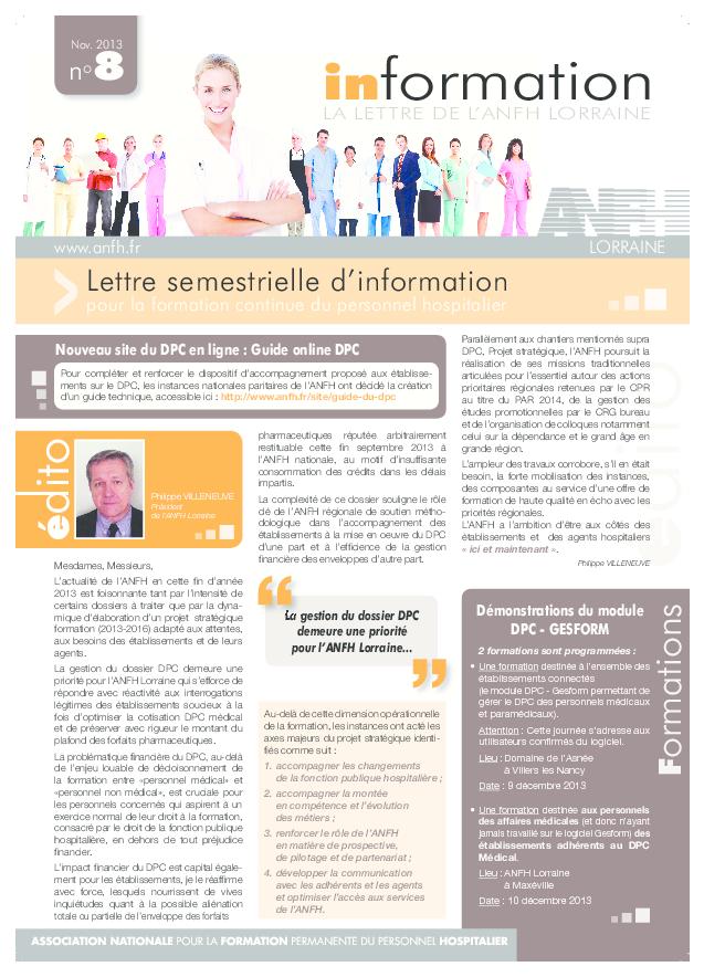 Lettre info n°8 Lorraine