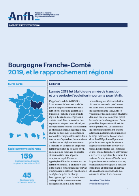 Rapport d'activité 2019 - Bourgogne / Franche-comté