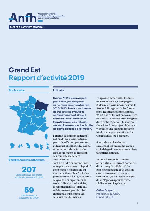 Rapport d'activité 2019 - Grand-Est