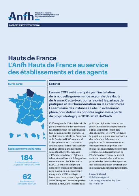 Rapport d'activité 2019 - Hauts de France