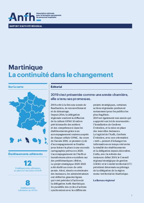 Rapport d'activité 2019 - Martinique