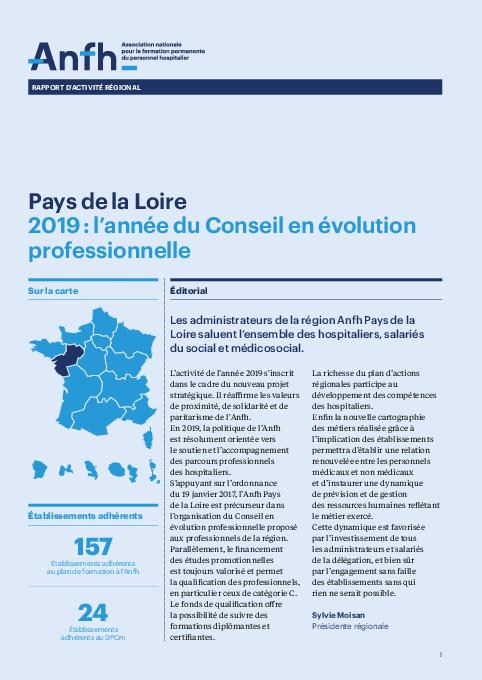 Rapport d'activité 2019 - Pays de la Loire