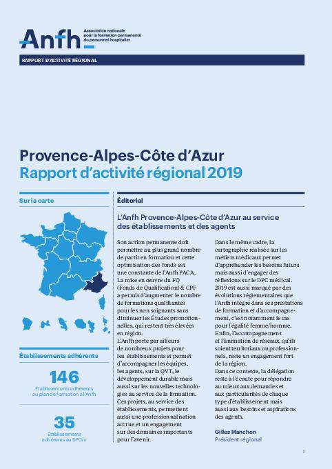 Rapport d'activité 2019 - PACA