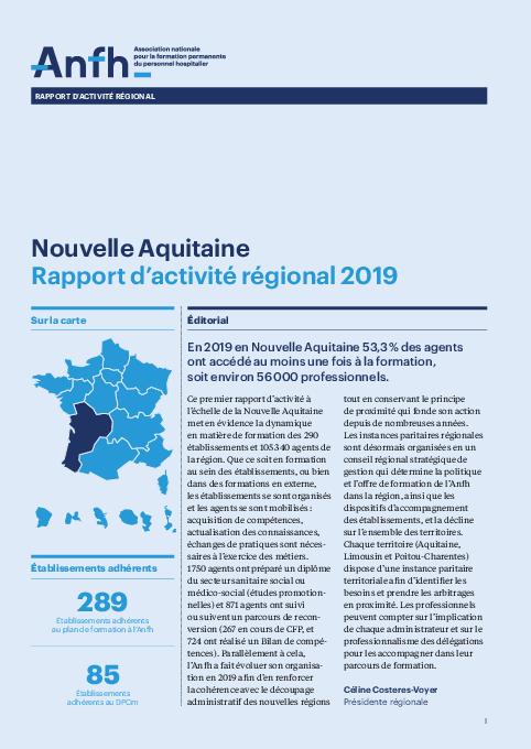 Rapport d'activité 2019 - Nouvelle Aquitaine
