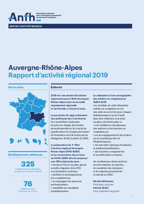 Rapport d'activité 2019 - Auvergne - Rhône - Alpes