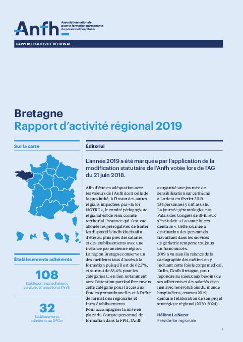 Rapport d'activité 2019 - Bretagne