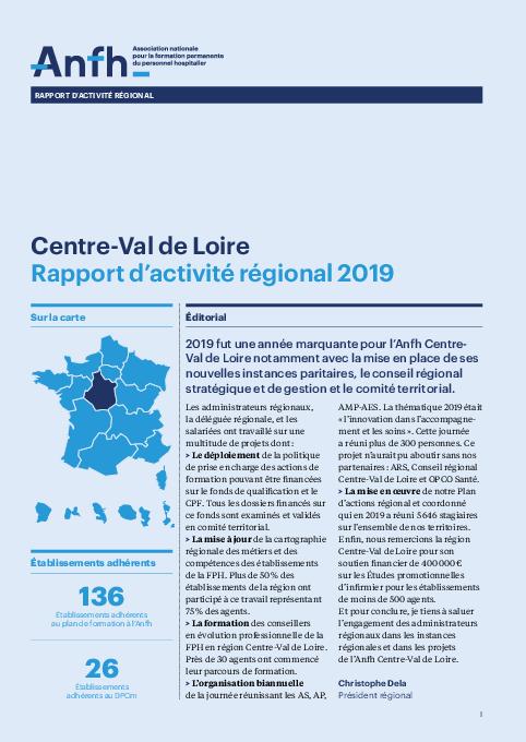 Rapport d'activité 2019 - Centre-Val de Loire