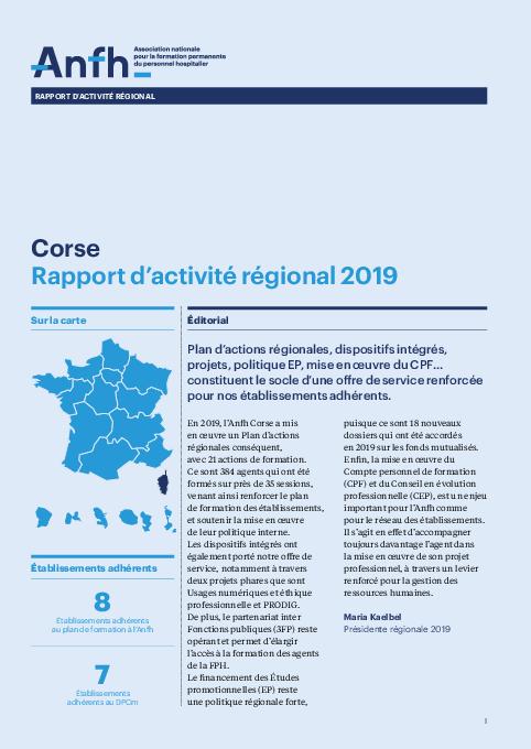 Rapport d'activité 2019 - Corse