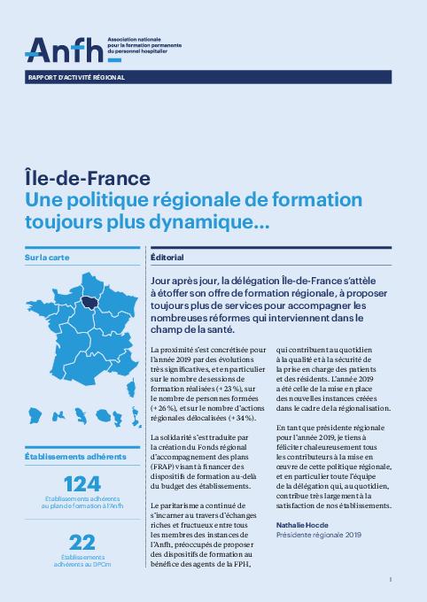 Rapport d'activité 2019 - Ile-de-France