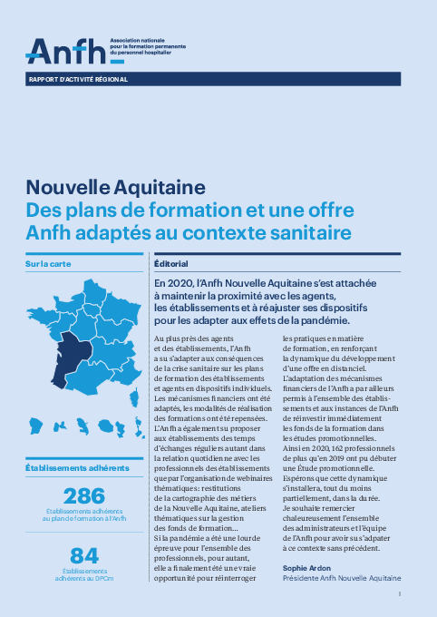 Rapport d'activité 2020 - Nouvelle Aquitaine