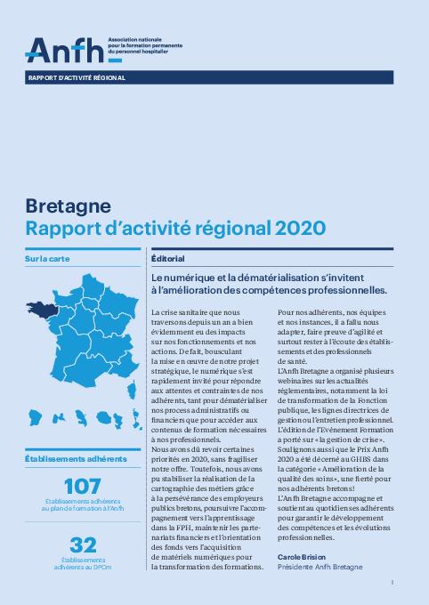 Rapport d'activité 2020 - Bretagne