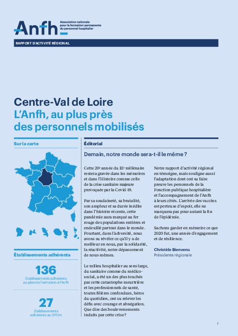 Rapport d'activité 2020 - Centre-Val de Loire