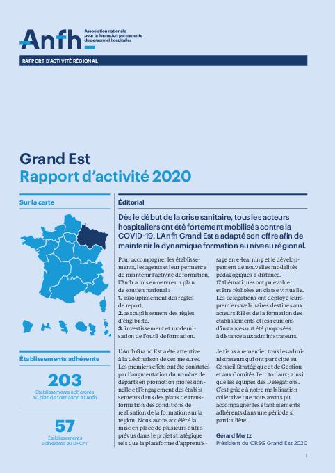 Rapport d'activité 2020 - Grand-Est
