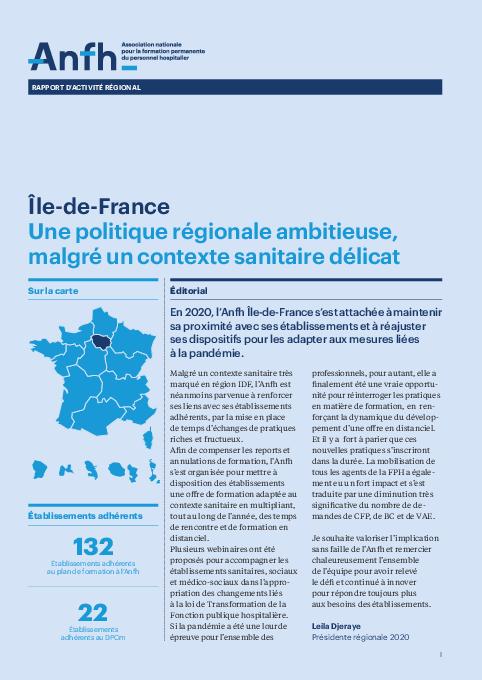 Rapport d'activité 2020 - Ile-de-France