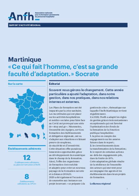Rapport d'activité 2020 - Martinique