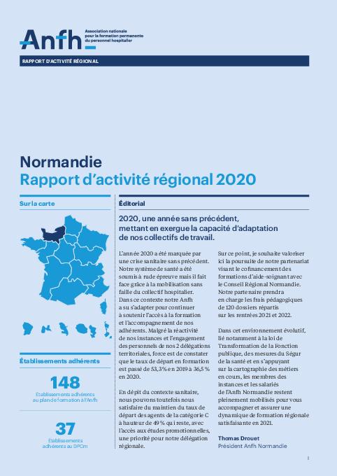 Rapport d'activité 2020 - Normandie