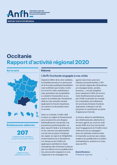 Rapport d'activité 2020 - Occitanie