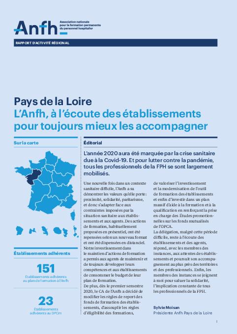 Rapport d'activité 2020 - Pays-de-la-Loire
