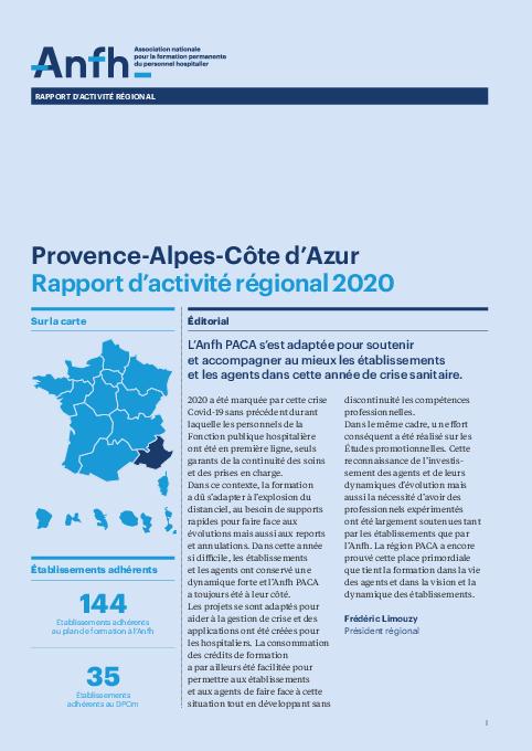 Rapport d'activité 2020 - Provence-Alpes-Côte d'Azur