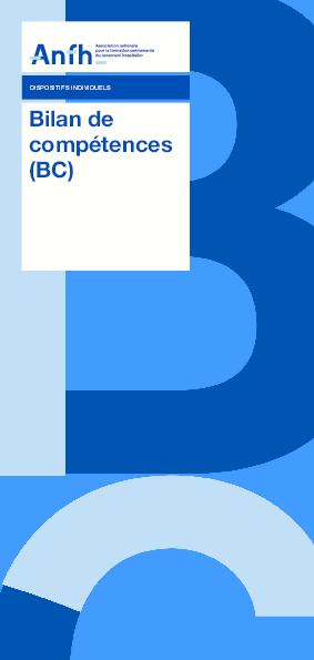 Le bilan de compétences - BC