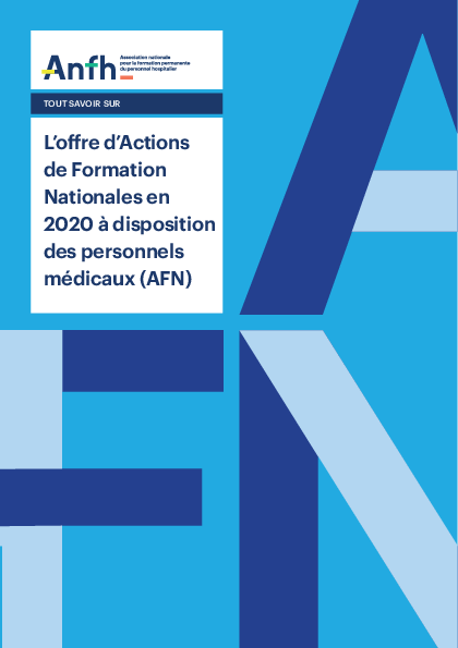 L'offre d'Actions de Formation Nationales en 2020 à disposition des personnels médicaux (AFN)