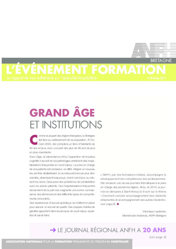 L'Evenement Formation n°58 - février 2013