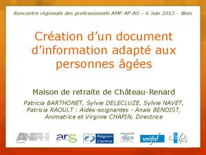 Témoignage de l'équipe de Château-Renard