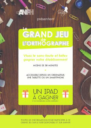 Affiche du jeu Concours Voltaire ANFH PACA