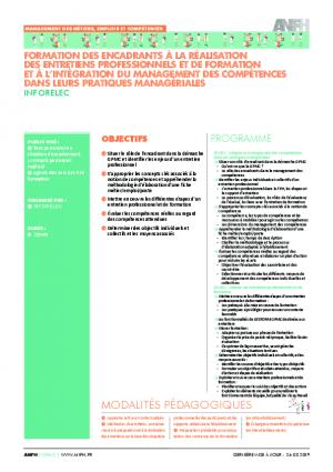 Programme de formation des encadrants entretiens professionnels - Inforelec