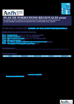 Bulletin pré-inscription CEP