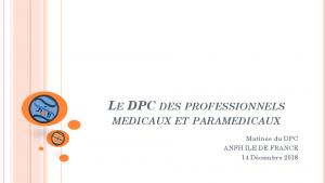 Le DPC des professionnels