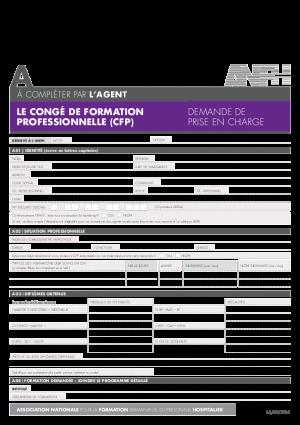 Dossier de demande de prise en charge CFP