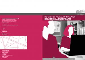 Plaquette Métiers administratifs