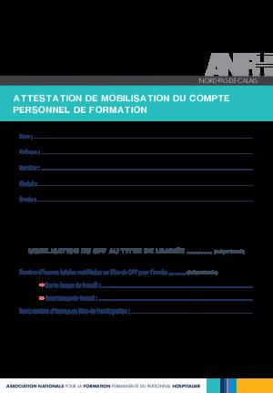 FORMULAIRE UTILISATION CPF