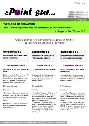 LE POINT SUR N°1 TYPOLOGIE DE FORMATION