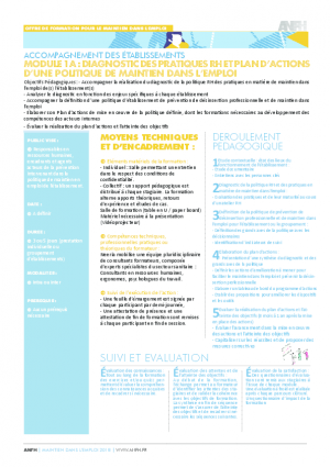 Diagnostic des pratiques RH en matière de maintien dans l'emploi et plan d'actions