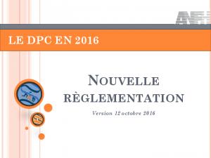 Nouvelle réglementation DPC Médical 2016
