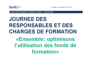 Optimisation des fonds de formation 2020