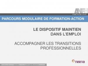 présentation parcours modulaire Maintien dans l'emploi