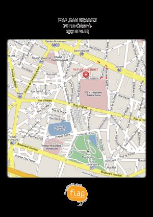 Plan d'accès LA FIAP