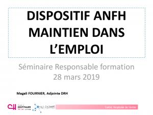 Diaporama présentation jeudi matin (témoignage CH Vienne / Maintien dans l'emploi)
