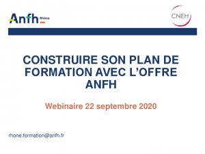 Support webinaire ANFH Rhône Construire son plan de développement des compétences 22.09.2020