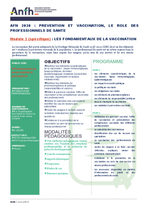 VACCINATION MODULE 2 : Les fondamentaux de la vaccination
