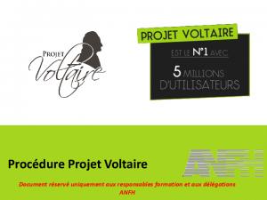 Procédure d'inscription des agents au Projet Voltaire