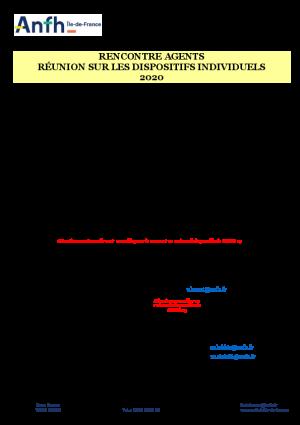 CALENDRIER : RENCONTRE AVEC LES CONSEILLERS 2020 (mise à jour le 14/10/2020)