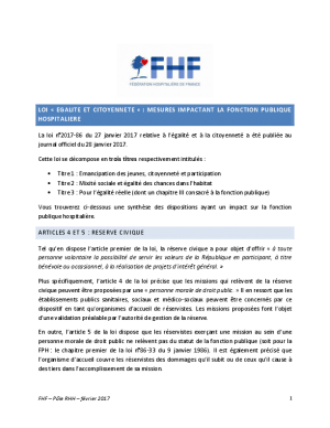 Synthèse FHF Loi égalité janvier 2017