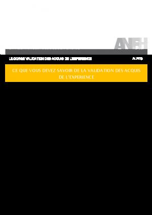 DOCUMENT EXPLICATIF VAE
