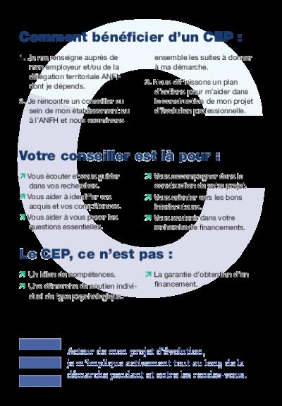 Conseil en évolution professionnelle (CEP) - établissements